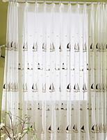 billiga -Skira Gardiner Shades Matsalsrum Geometrisk Polyester Reaktiv Tryck