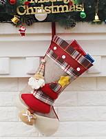 baratos -Meias Finas Férias Tecido Não-Tecelado Quadrada Novidades Decoração de Natal