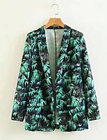 cheap -women's work blazer-floral shirt collar