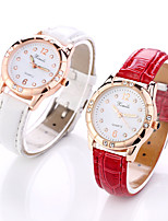 cheap -Women's Wrist Watch Quartz Casual Watch Leather Band Analog Fashion Elegant Black / White / Red - Black Red Pink