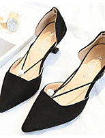 Недорогие -Жен. Обувь Полиуретан Весна & осень Удобная обувь / Туфли лодочки Обувь на каблуках На шпильке Черный / Бежевый