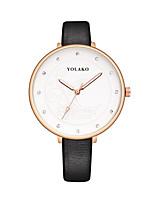 cheap -Women's Wrist Watch Quartz Casual Watch PU Band Analog Fashion Minimalist Black / White / Blue - Red Pink Light Blue