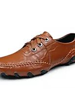 Недорогие -Муж. Комфортная обувь Кожа Лето Кеды Черный / Коричневый