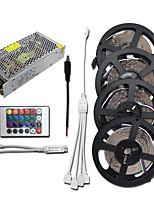 Недорогие -HKV 4x5M Наборы ламп 1200 светодиоды 3528 SMD RGB Можно резать / Компонуемый / Самоклеющиеся 100-240 V 1 комплект
