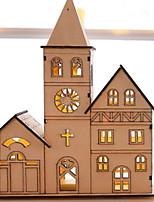 baratos -Natal / Enfeites de Natal Férias De madeira Novidades Decoração de Natal