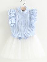 Недорогие -Дети Девочки Полоски Без рукавов Набор одежды
