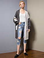 cheap -8CFAMILY Women's Active / Basic Cardigan - Color Block, Patchwork