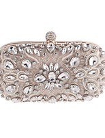 cheap -Women's Bags Polyester / Alloy Evening Bag Beading / Crystals Black / Almond