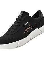 Недорогие -Муж. Комфортная обувь Полиуретан Осень Кеды Черный / Серый / Черный / Красный