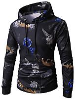 cheap -men's long sleeve slim hoodie - floral hooded