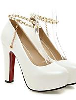 Недорогие -Жен. Комфортная обувь Полиуретан Весна Обувь на каблуках На шпильке Белый / Серый / Розовый