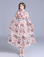 cheap -Women's Elegant Swing Dress Print