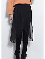 preiswerte -Damen Fleece-Futter Legging - Solide Mittlere Taillenlinie
