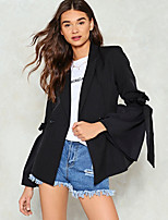 cheap -women's business casual blazer-solid colored shawl lapel