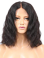 cheap -Human Hair Lace Front Wig Brazilian Hair / Burmese Hair Water Wave Wig Bob Haircut 130% Easy dressing / Best Quality / Hot Sale Natural Women's Short Human Hair Lace Wig