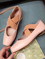 Недорогие -Жен. Обувь Овчина Лето Удобная обувь / Балетки На плокой подошве На низком каблуке Белый / Черный / Розовый