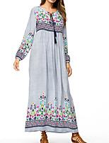cheap -women's going out shift dress high waist maxi v neck