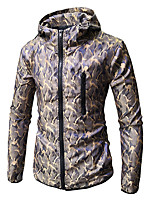 cheap -Men's Basic Hoodie - Color Block / Camouflage