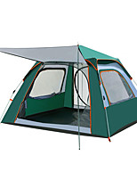 cheap -TANXIANZHE® 4 person Family Tent Single Layered Automatic Camping Tent One Room  Outdoor Windproof 2000-3000 mm  for Fishing Oxford Cloth 240*240*155 cm / Rain-Proof