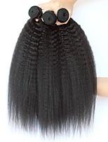 abordables -3 offres groupées Cheveux Indiens Droit Yaki Non Traités / Cheveux humains Cadeaux / Costumes Cosplay / Tissages de cheveux humains 8-28 pouce Couleur naturelle Tissages de cheveux humains Lisse