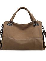 cheap -Women's Bags Canvas Tote Zipper Gray / Purple / Coffee
