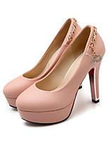 Недорогие -Жен. Балетки Полиуретан Весна & осень Обувь на каблуках На шпильке Белый / Черный / Розовый