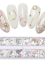 billiga -1 / låda Moderiktig design / Självlysande Romantik Tur nagel konst manikyr Pedikyr Legering Glitters / Retro Bröllopsfest / Dagliga kläder