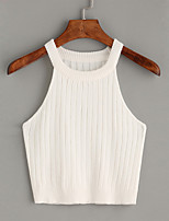 cheap -Women's Sleeveless Cotton Vest - Solid Colored