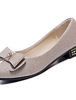 Недорогие -Жен. Обувь Полиуретан Лето Удобная обувь На плокой подошве На плоской подошве Заостренный носок Бант Серебряный / Лиловый / Миндальный