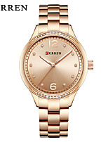 cheap -CURREN Women's Dress Watch Bracelet Watch Quartz Water Resistant / Water Proof Calendar / date / day New Design Alloy Band Analog Casual Fashion Silver / Gold - Gold Silver White / Gold / Large Dial