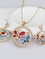 cheap -Women's Stylish Jewelry Set - Creative, Butterfly Stylish, European Include Hoop Earrings / Necklace Gold For Wedding / Daily