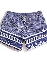 cheap -Women's Swimming Trunks / Swim Shorts Rain-Proof, Ultra Light (UL), Quick Dry POLY / Elastane Swimwear Beach Wear Board Shorts / Bottoms Stripe Surfing / Beach / Watersports / High Elasticity