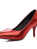 baratos -Mulheres Sapatos Confortáveis Microfibra Inverno Saltos Salto Agulha Prata / Vermelho / Rosa claro