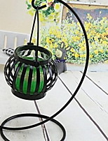 cheap -Simple Style Iron Candle Holders Candelabra 1pc, Candle / Candle Holder