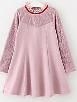Недорогие -Дети Девочки Классический Контрастных цветов Длинный рукав Платье