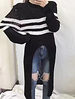 economico -Per donna Essenziale Pullover - Collage / Con stampe, Tinta unita / A strisce