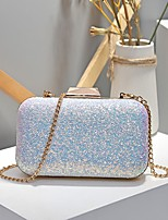 cheap -Women's Bags Synthetic Evening Bag Sequin / Buttons Blue / Gold / Blushing Pink