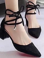 abordables -Femme Chaussures Polyuréthane Printemps & Automne Confort / Escarpin Basique Chaussures à Talons Talon Bottier Noir / Gris / Rose