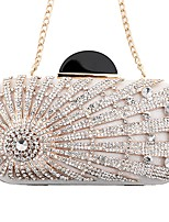 cheap -Women's Bags PU(Polyurethane) / Alloy Evening Bag Crystals / Glitter White / Black / Red