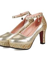 baratos -Mulheres Sapatos Confortáveis Couro Ecológico Outono Saltos Salto Agulha Dourado / Preto / Prata