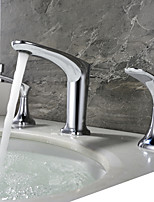 cheap -Bathroom Sink Faucet - New Design Chrome Widespread Two Handles Three Holes