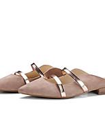 Недорогие -Жен. Обувь Наппа Leather Весна / Лето Удобная обувь На плокой подошве На плоской подошве Закрытый мыс Белый / Черный / Миндальный