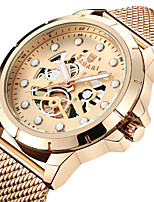 cheap -Men's Sport Watch Wrist Watch Japanese Quartz Hollow Engraving Casual Watch Cool Stainless Steel Band Analog Luxury Fashion Black / Gold / Rose Gold - Black / White Rose Gold Black / Rose Gold