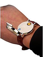 baratos -Homens Relógio de Pulso Japanês Cronógrafo / Criativo / Novo Design Couro Banda Luxo / Rígida Preta / Marrom