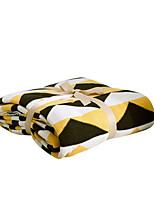 baratos -Super Suave, Impressão Reactiva Geométrica / Xadrez Algodão cobertores