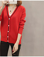 cheap -Women's Basic Cardigan - Solid Colored / Color Block