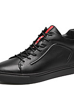 cheap -Men's Leather Shoes Cowhide Fall / Spring & Summer Business / Casual Sneakers Walking Shoes Breathable Black