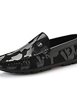 cheap -Men's PU(Polyurethane) Fall Moccasin Loafers & Slip-Ons Black / Red / Khaki