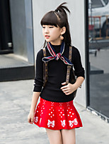 cheap -Kids Girls' Vintage / Street chic Going out Print Print Long Sleeve Long Cotton Clothing Set