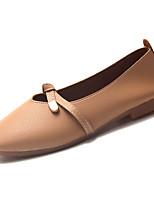 Недорогие -Жен. Полиуретан Весна лето Удобная обувь На плокой подошве На плоской подошве Квадратный носок Бежевый / Розовый